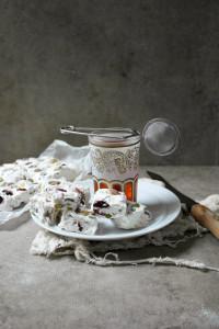 pistachio and cranberry nougat