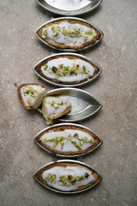 lemon and pistachio pastry tarts