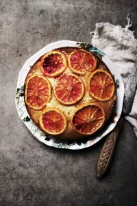 blood orange upsidedown cake
