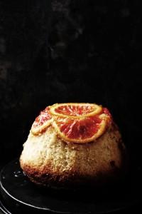 steamed blood orange pudding