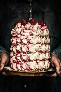 raspberry ripple birthday cake
