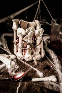 halloween meringue bones pavlova with raspberry blood