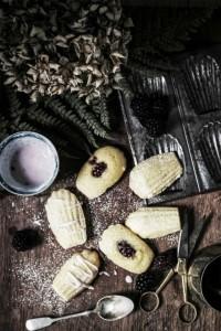 blackberry madeleines