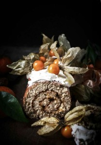 physalis clemintine and ginger swiss roll