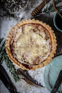 honey and rosemary shoofly pie from four and twenty blackbirds pie book