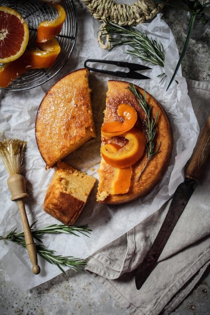 Whole Blood Orange Semolina Cake With Rosemary Twigg Studios
