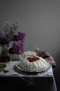 balsamic cherry pavlova from meringue girls new book everything sweet