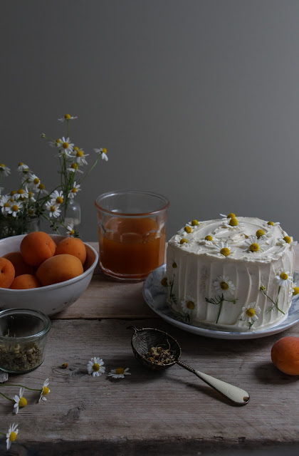 Chamomile Apricot Vertical Roll Cake Labnoons Virtual