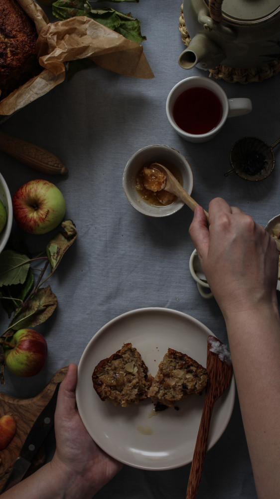 apple banana cake paleo-1-18