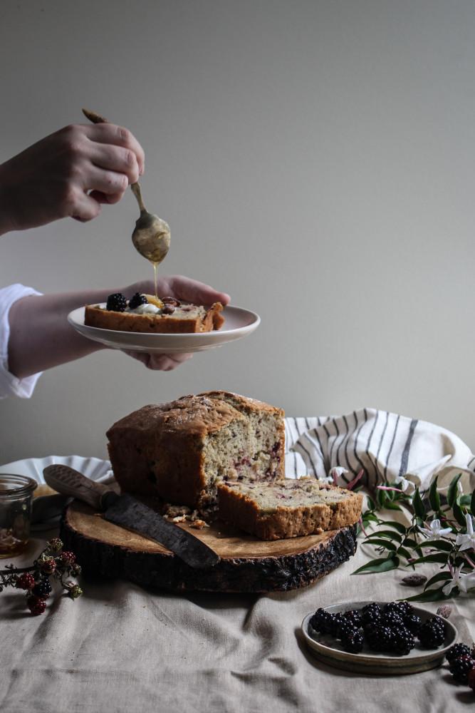 blackberry almnd cake with jasmin honey-1-9