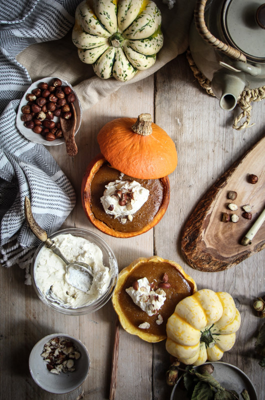 pumpkin pies baked inside squashes-1-18