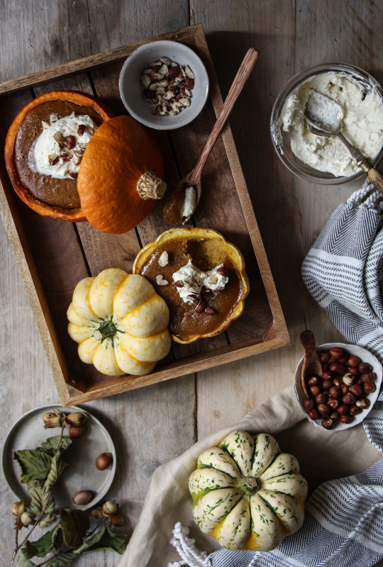 pumpkin pies baked inside squashes-1-27