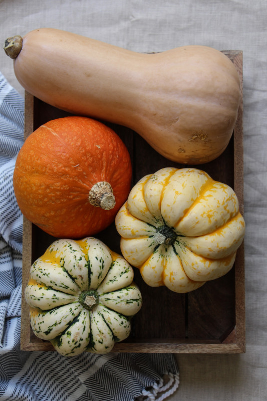 pumpkin pies baked inside squashes-1-2