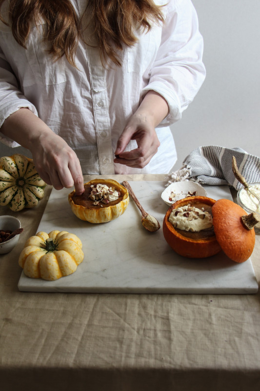 pumpkin pies baked inside squashes-1-29