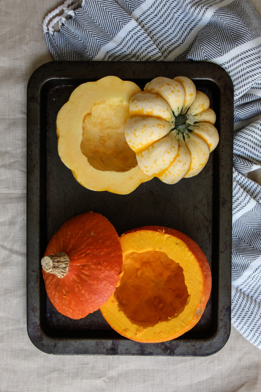 pumpkin pies baked inside squashes-1-5