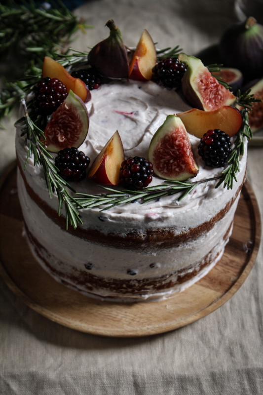 black tea poached plum and fig cake-1-23