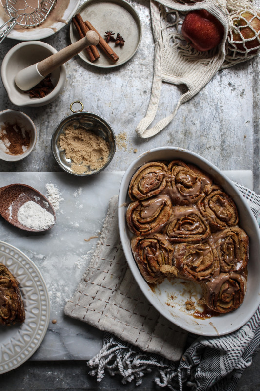 bonfire night spiced apple parkin rolls-1-19