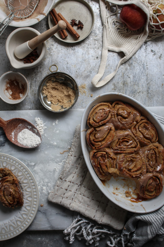 bonfire night spiced apple parkin rolls-1-20