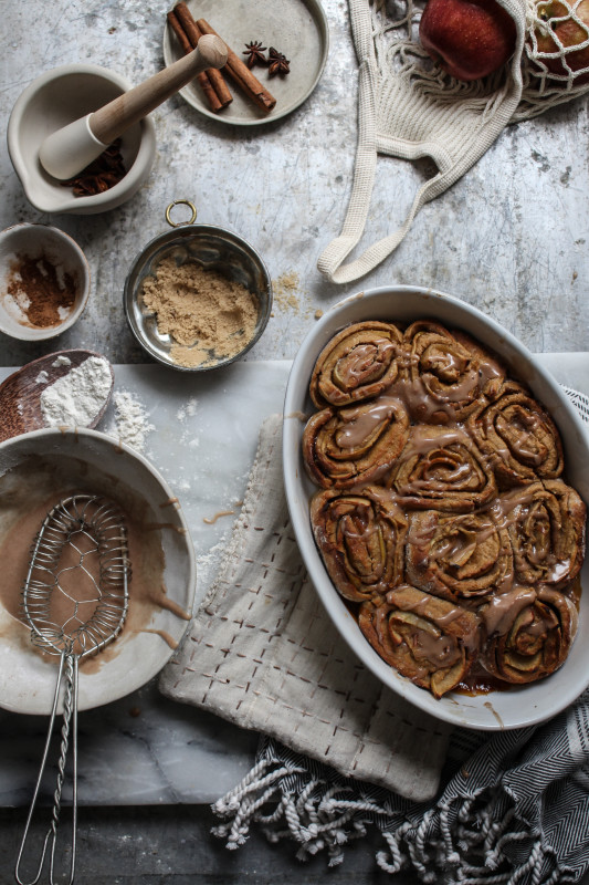 bonfire night spiced apple parkin rolls-1-21