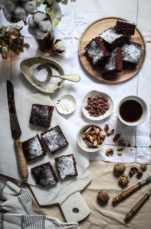 buckwheat brown butter banana brownies