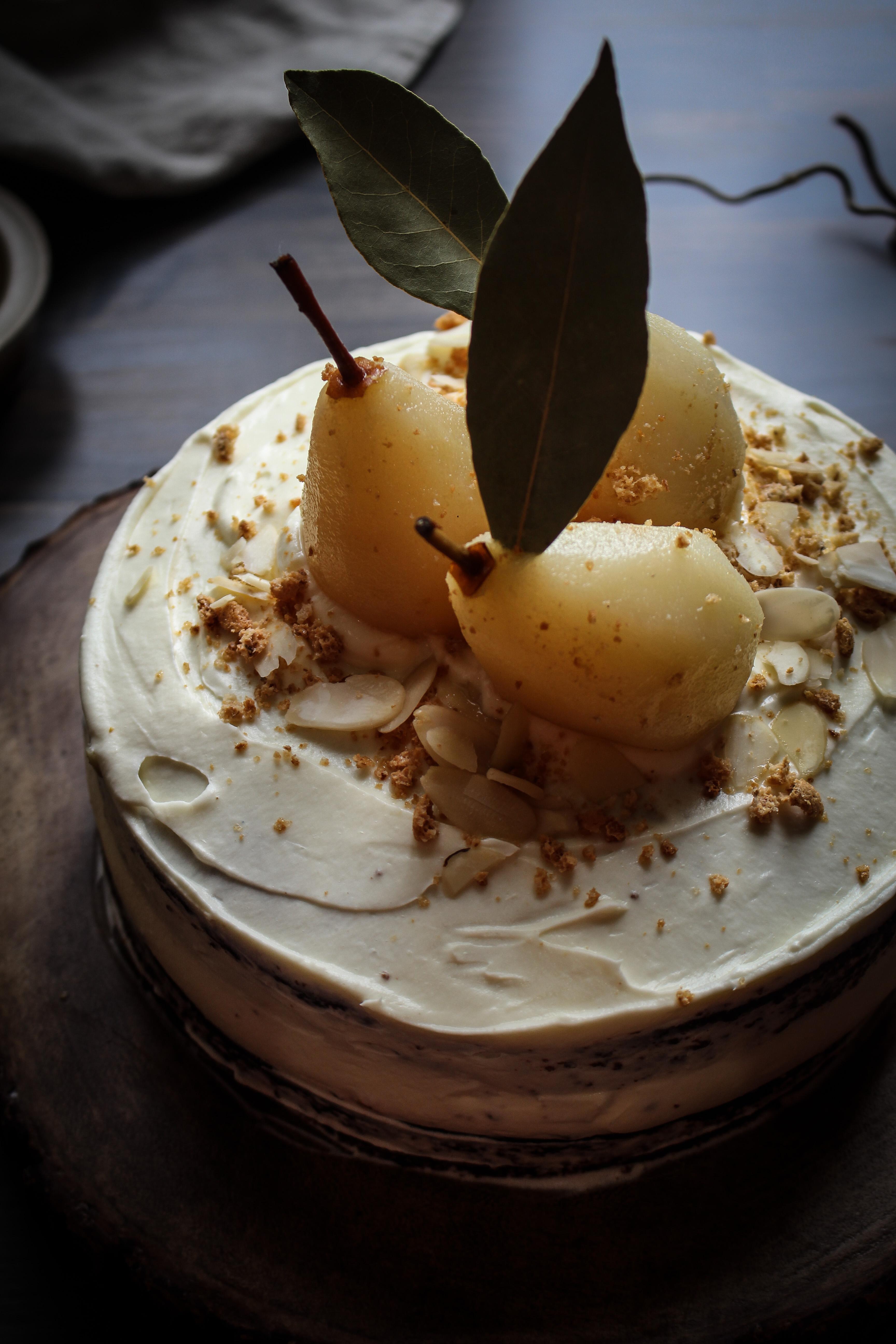 Almond Cocoa Cake With Pear Recipe
