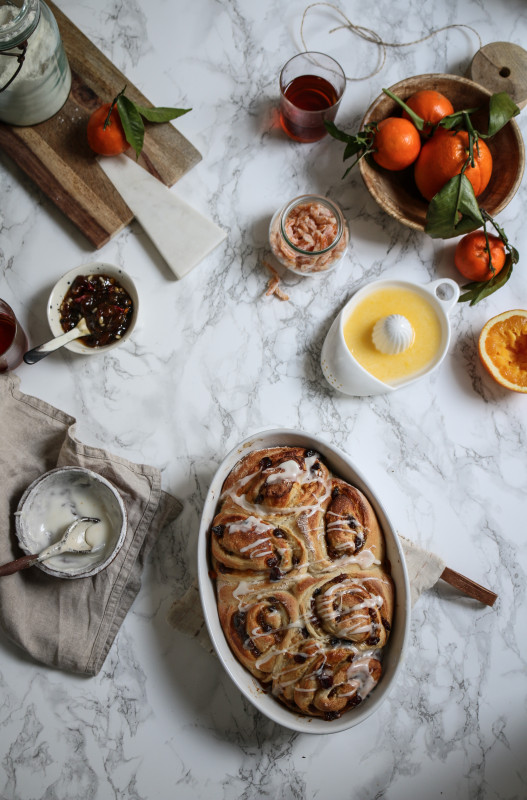 mincepie cinnamon orange buns
