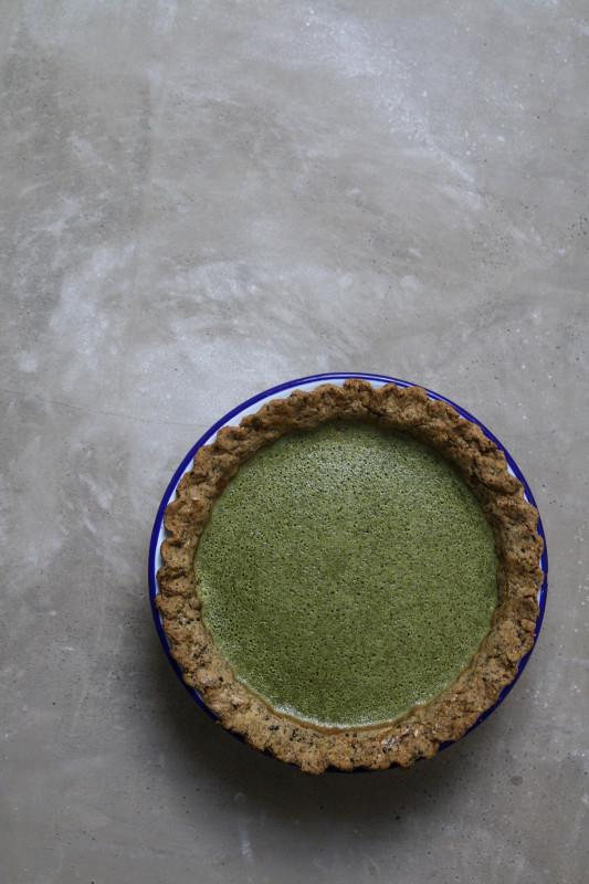 matcha custard pie with black sesame pastry-1-2