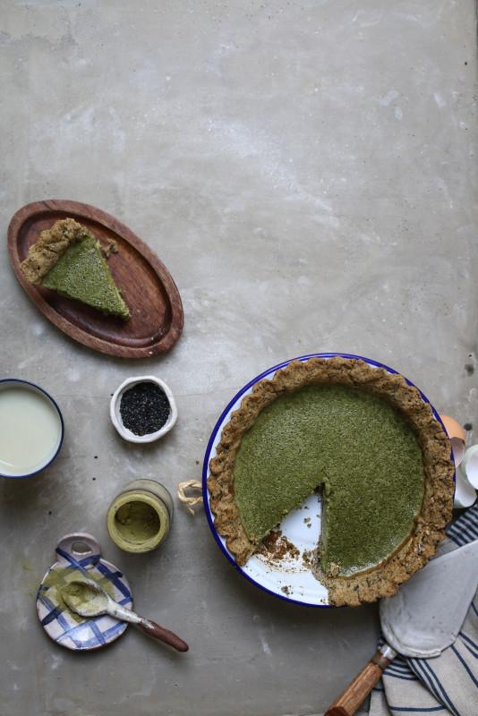 matcha custard pie with black sesame pastry-1-7