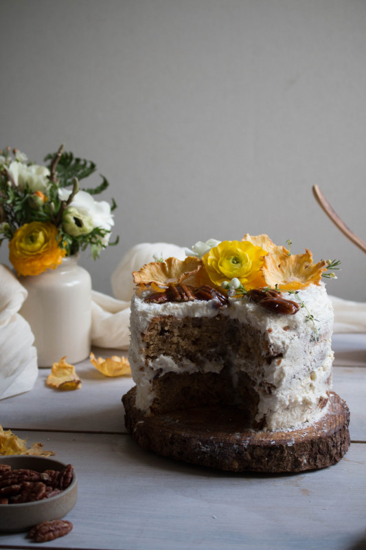 Hummingbird Cake With Pineapple Lime Jam And Coconut