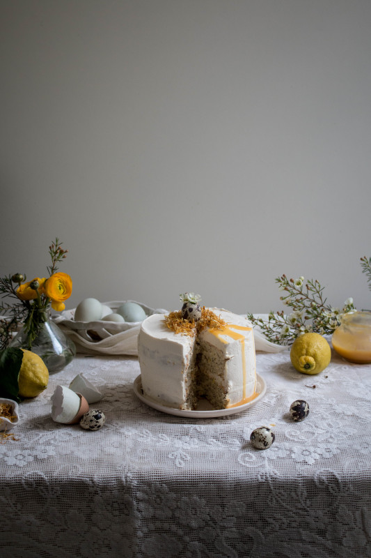 lemon poppy seed cake with honey black tea frosting-1-2