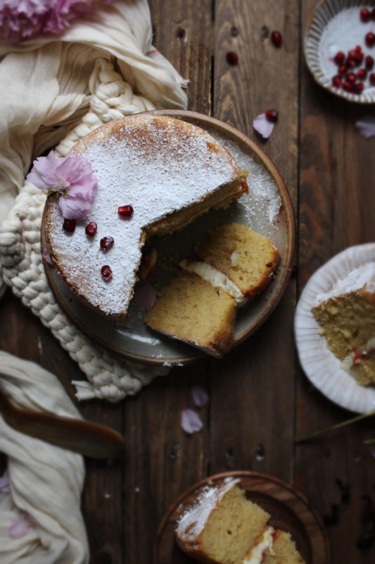lemon pomegranate hibiscus curd filled cake-1-26-1