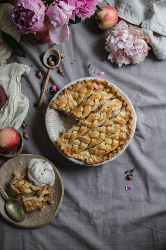 peach tea pie and rose icecream-1-1