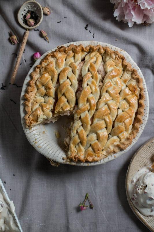 peach tea pie and rose icecream-1-16