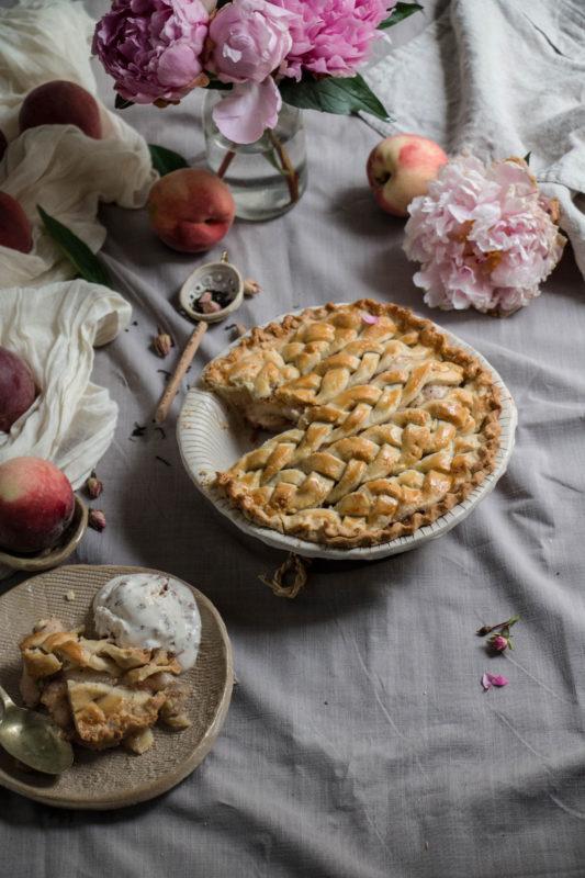peach tea pie and rose icecream-1-18-1