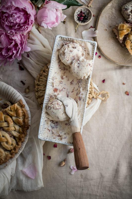 peach tea pie and rose icecream-1-31