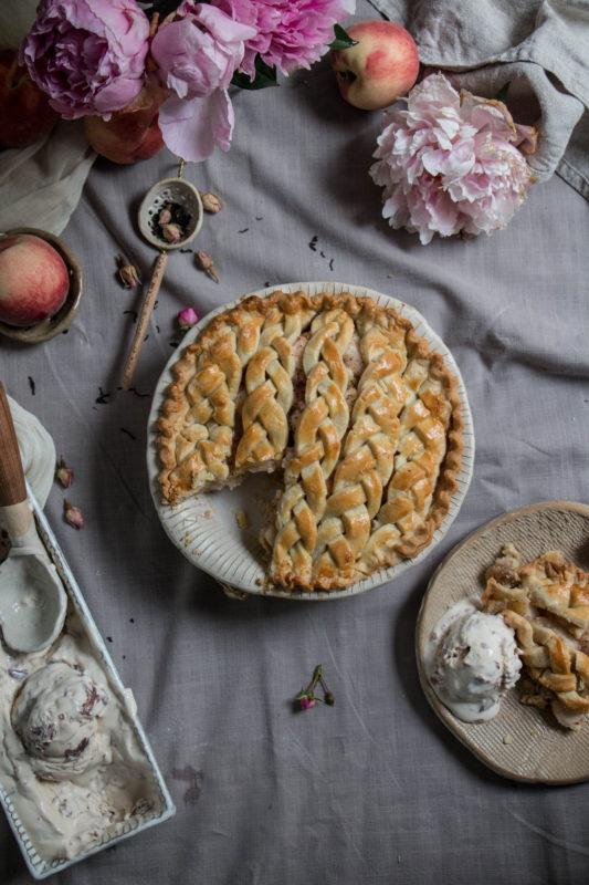 peach tea pie and rose icecream-1-6-1