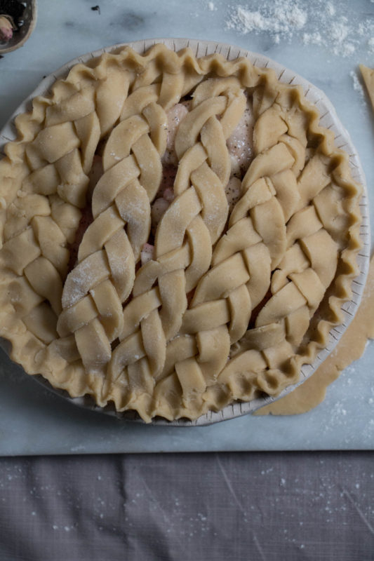 peach tea pie and rose icecream-1-7