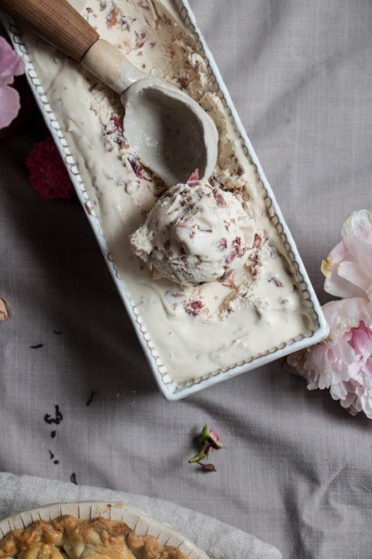 peach tea pie and rose icecream-1-9
