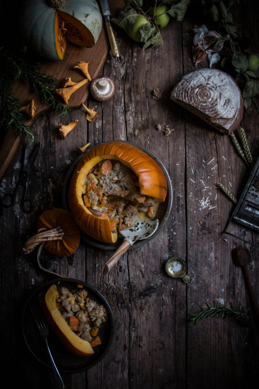 virtual pumpkin party sausage stuffing pumpkin bake