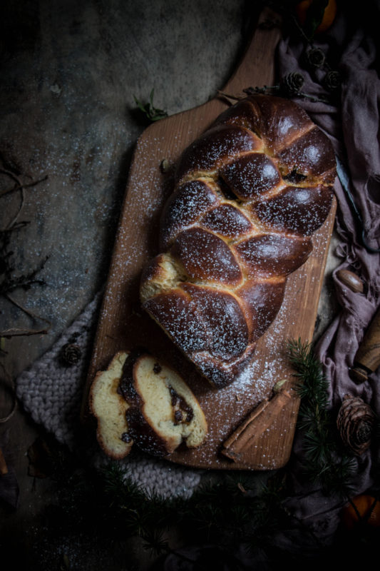 mince pie challah loaf