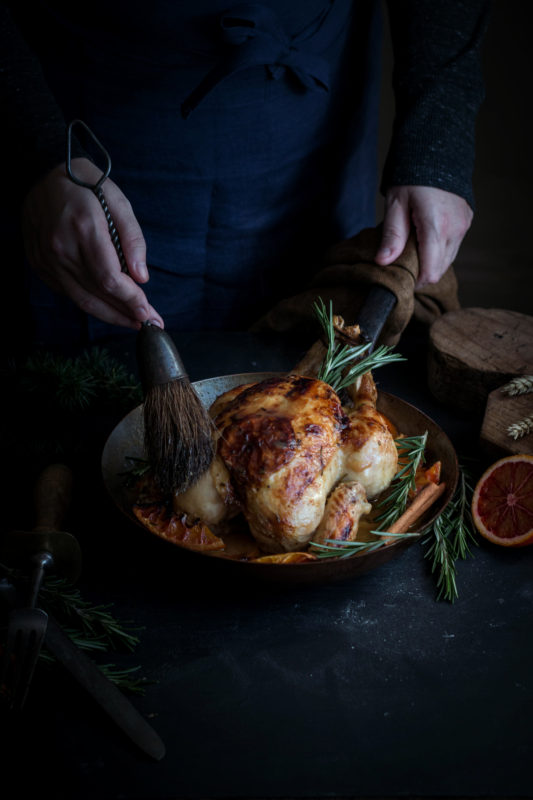 blood orange roast chicken