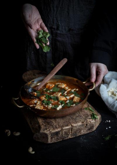 paneer butter masala and homemade paneer