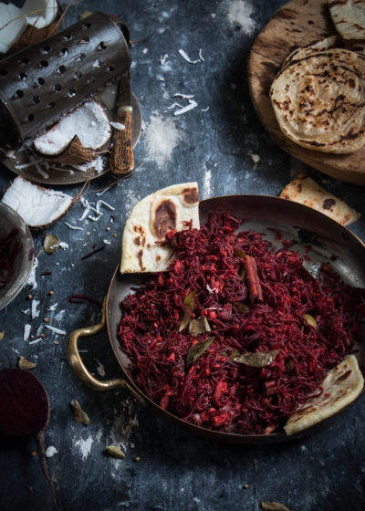 Beetroot thoran and keralan paratha