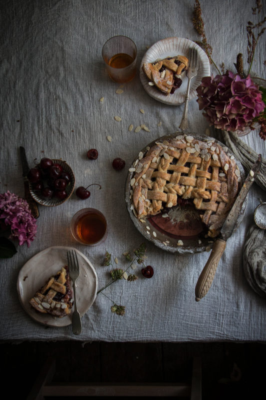balsamic cherry and amaretto pie