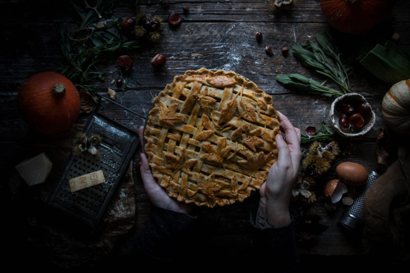 pumpkin leek onion and cheese pie – virtual pumkin party