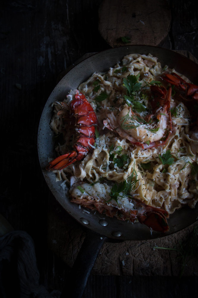 icelands luxury range, and creamy lobster tail champange pasta - twigg studios