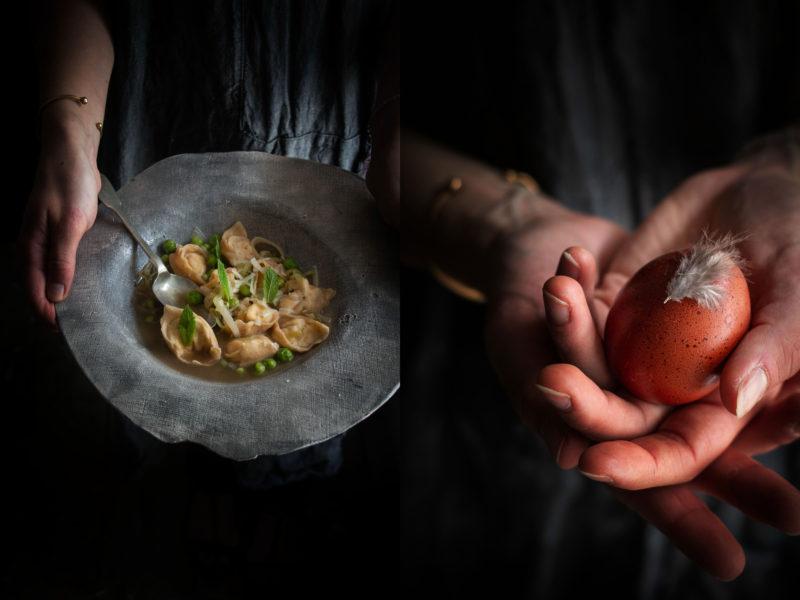 Spelt flour ricotta and mint tortellini in brodo