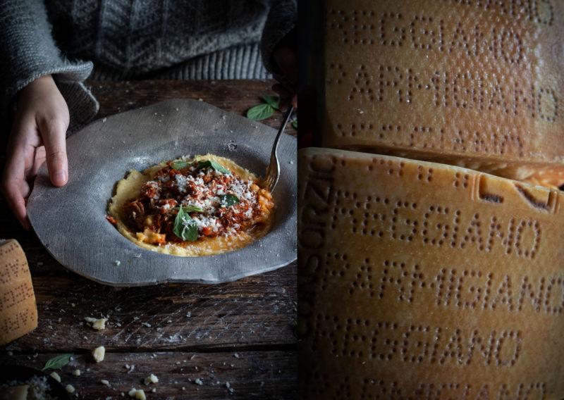 5 hour lamb ragu with parmigiano reggiano polenta