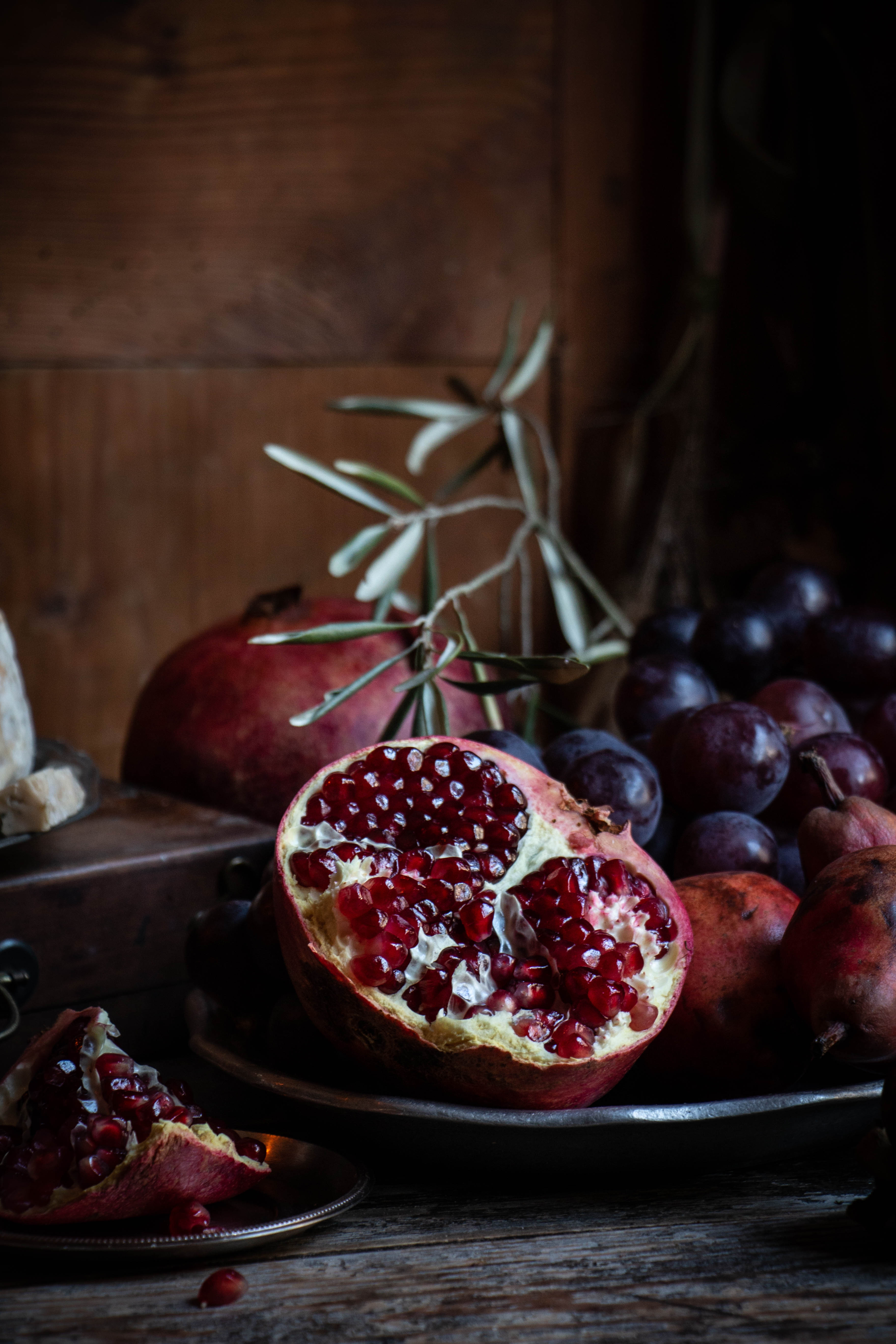 still life photography pomegrante
