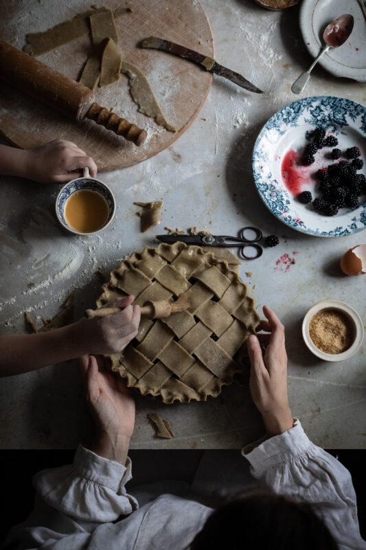 making pie